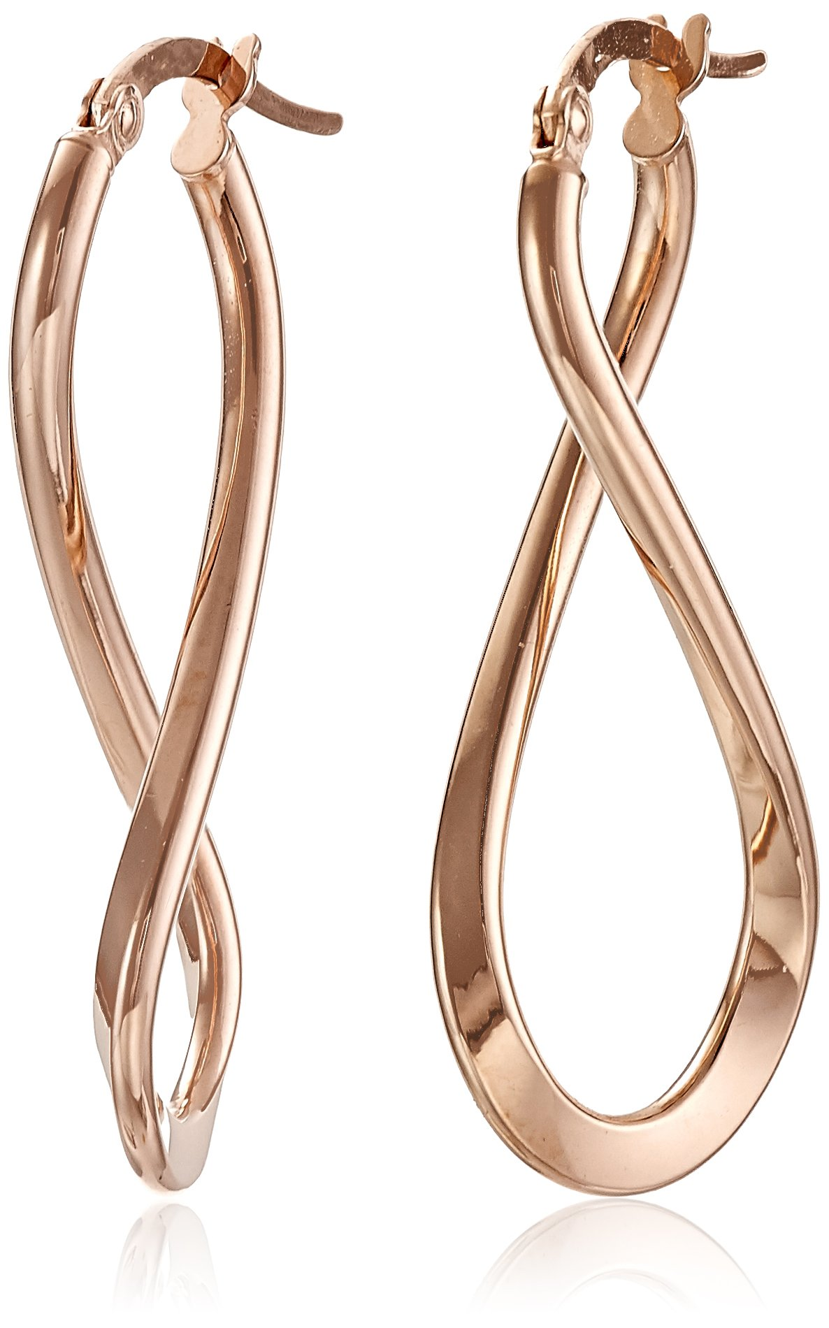 14k Rose Gold Italian Infinity Drop Earrings