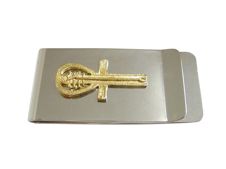 Gold Toned Egyption Ankh Money Clip