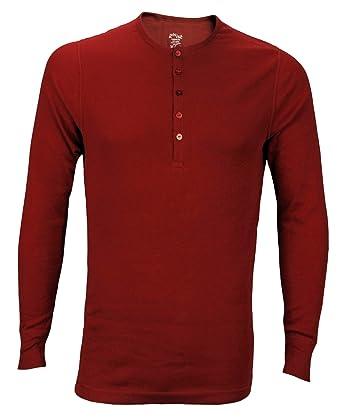 d2fda8b3 2xist Men's Long Sleeve Henley Top, Red: Amazon.co.uk: Clothing