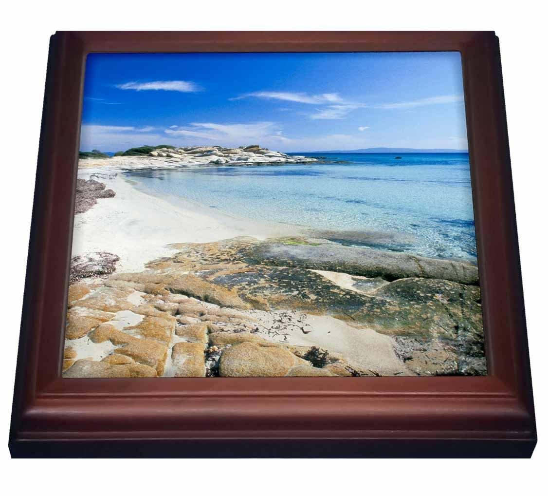 3dRose trv_81838_1''Greece, Halkidiki Peninsula, Karydi Beach Eu12 Phe0142 Paul Hellander Trivet with Tile, 8'' x 8''