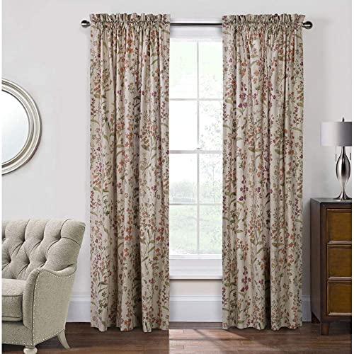Habitat Commonwealth Rockport Cotton Pole Top Curtain Panel Pair Linen 100 x 84 Each Panel 50'' Wide 71445-171-10084-110