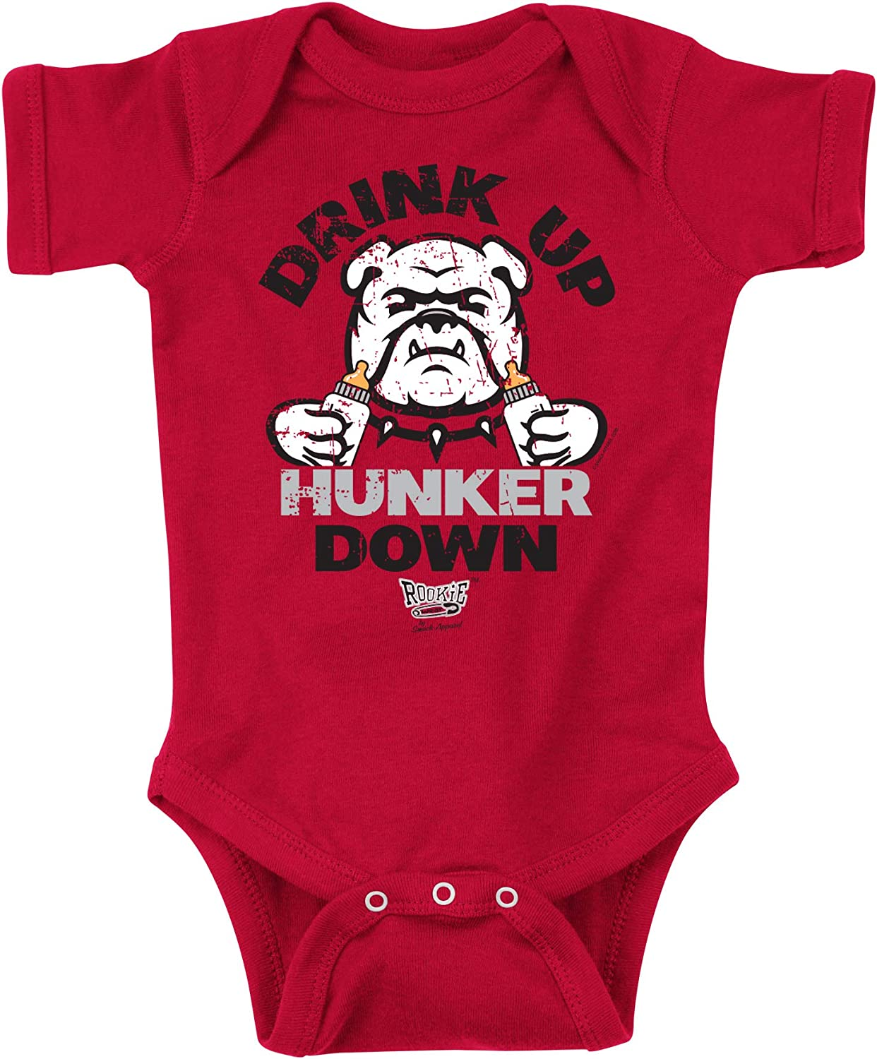 2T-4T Drink Up Hunker Down Red Onesie NB-18M or Toddler Tee Rookie Wear by Smack Apparel Georgia Football Fans