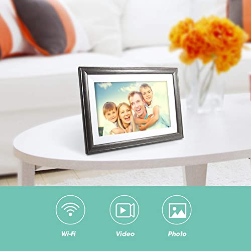 WiFi Digital Picture Frame 10 Inch 16GB Storage Smart Digital Photo Frame IPS Touch Screen HD Display