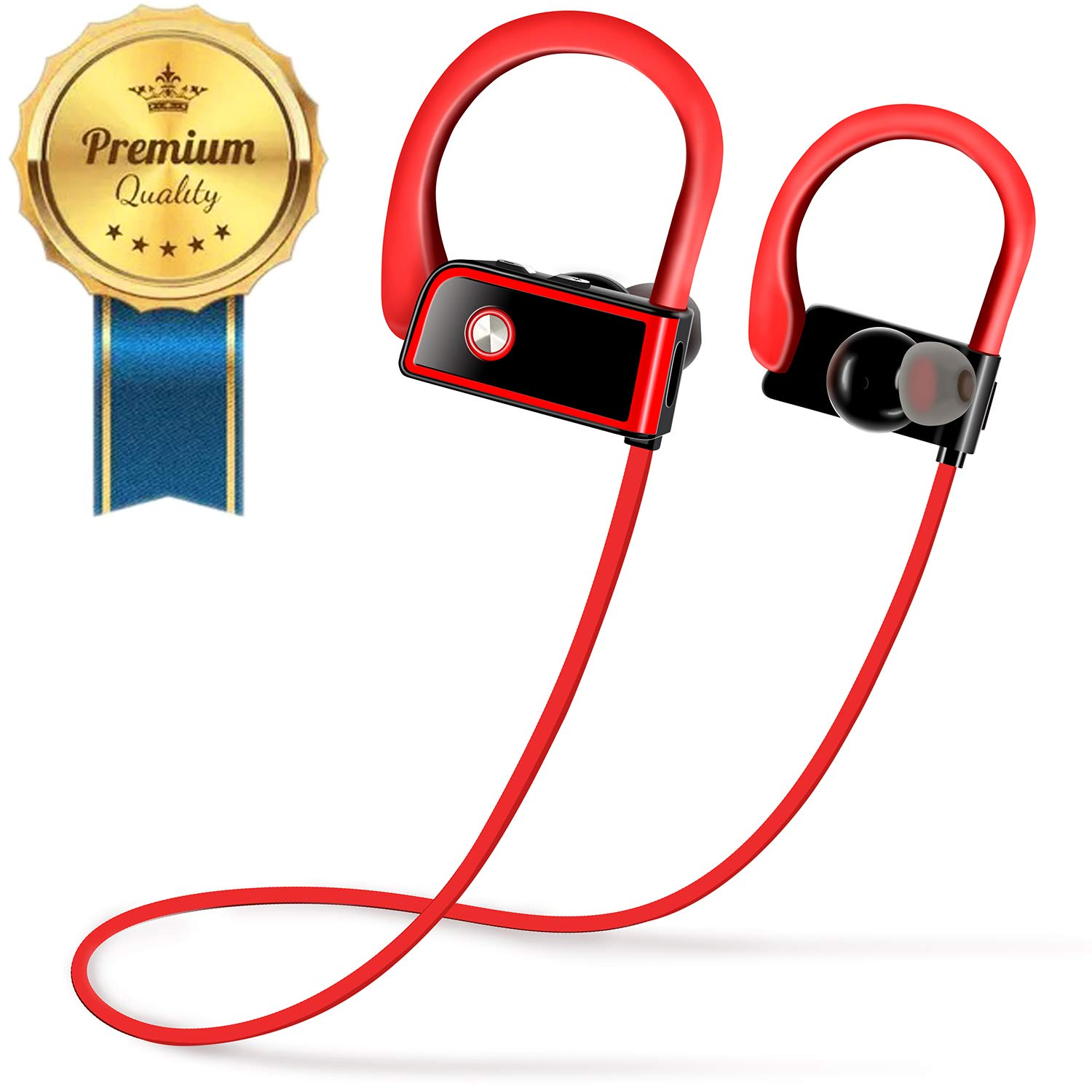 Deegotech Wireless Bluetooth Headphones, Waterproof Sports Earphones for Boxing Running, Bluetooth Earbuds for Gym Workout 8 Hour HD Stereo