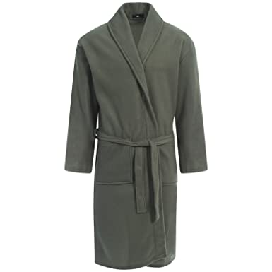 Men s Plain Polar Fleece Robe d779cce0d