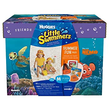 Amazon.com: Huggies Little Swimmers Summer Fun Pack with Nemo - 18ct ...