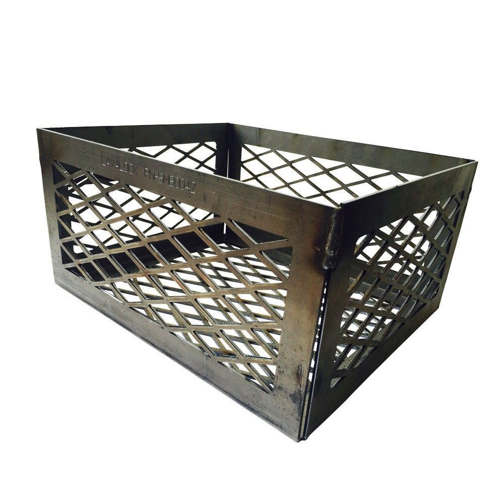 LavaLock LASER Charcoal Basket 12 x 10 x 6 '' - Vertical Horizontal UDS smoker coal (firebox) LL-12106-R2 by LavaLock®