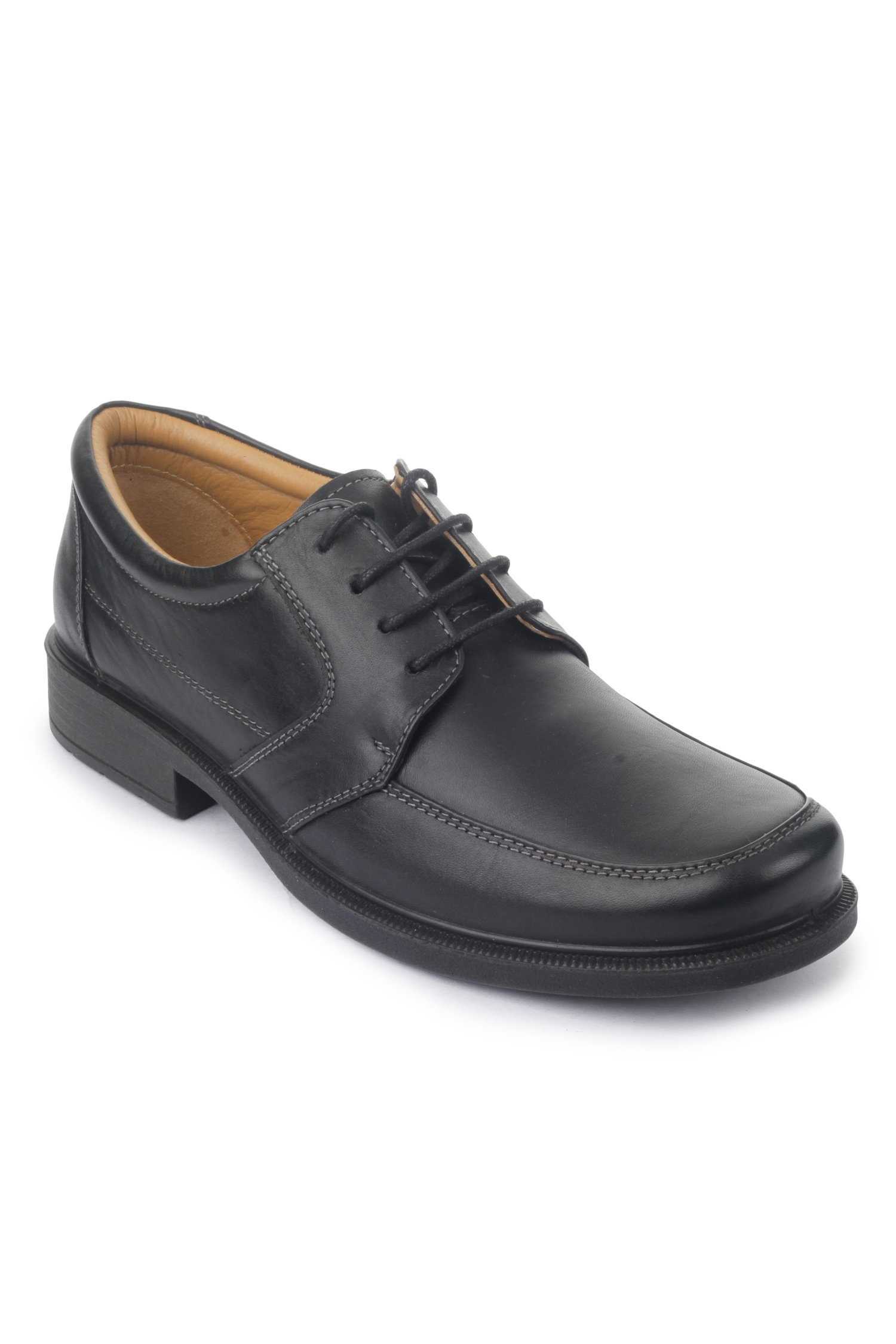 Liberty Mens Classic Round Toe Leather Lined Slip On Dress Laceup Shoes, Black, 8.5 D(M) US by Liberty Footwear