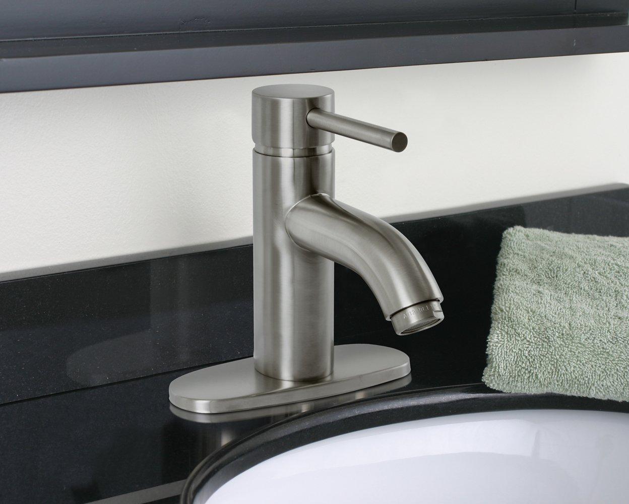 Premier 120122 Essen Single-Handle Lavatory Faucet, Brushed Nickel ...