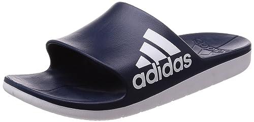 6268109d2b8e29 Adidas Men Sandals Swimming Aqualette Cloudfoam Slides Pool Beach Sporty  (48.5)