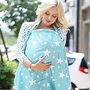 Gina Era Nursing Cover Baby Breastfeeding Cover Infant Feeding Cover Infant Breathable Privacy Breast Feeding Cover 100% cotton (style5)