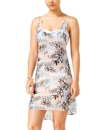 9fe0e3bcbea06 Miken Women's Serenity Palm Print Strappy Back Swimsuit Cover Up at Amazon Women's  Clothing store:
