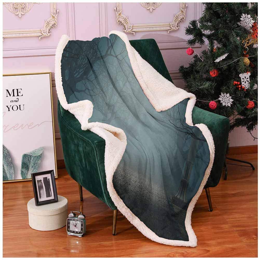 Amazon.com: Farm House Decor Fur Throw Blanket Bench in The ...