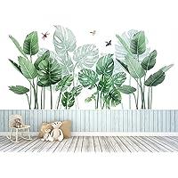 Pegatinas de Pared Planta Tropicales,Planta tropical Hoja de tortuga Etiqueta de la pared,para Dormitorio, Sala de Estar…