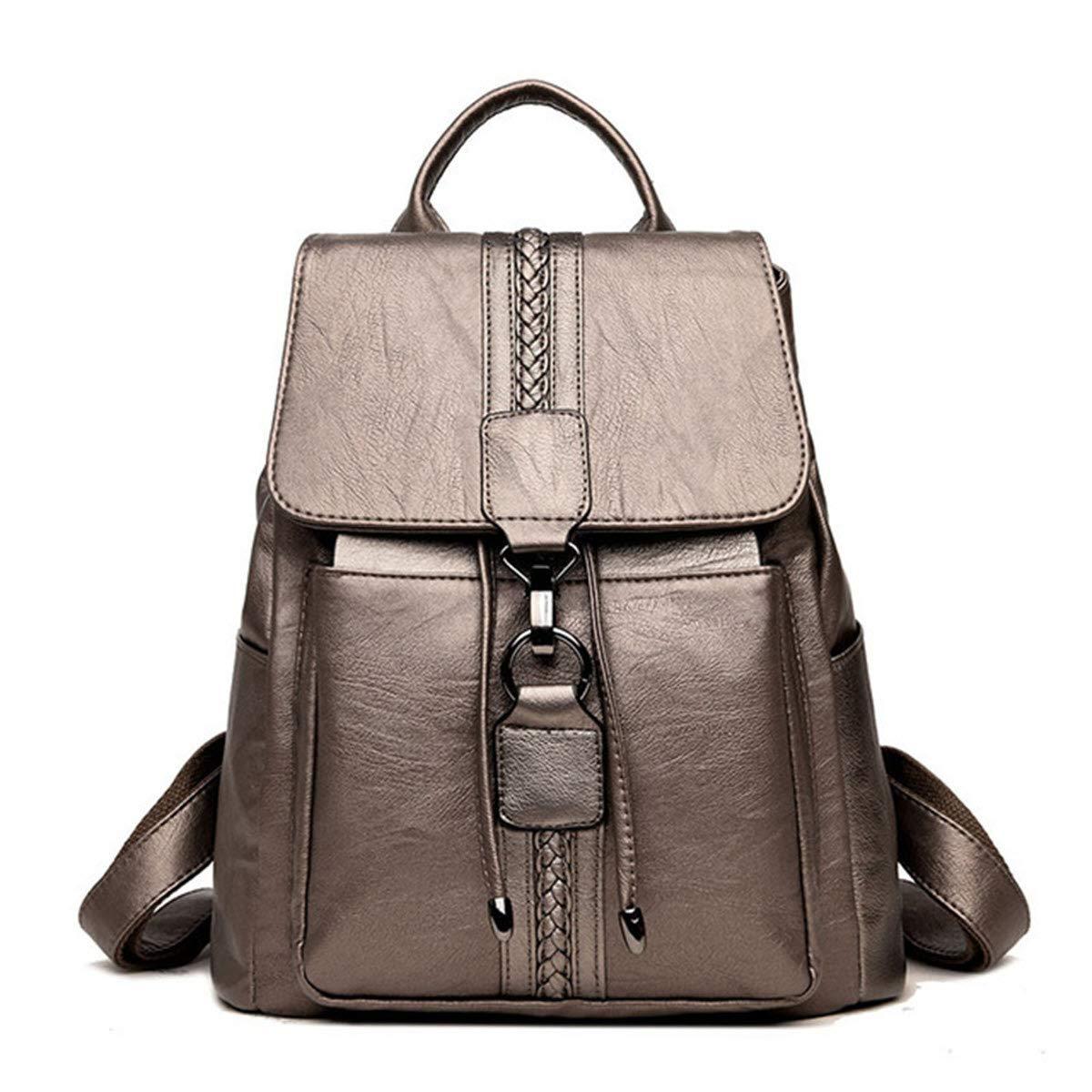 f846a01042 Amazon.com   Casual TIE Women Backpack High Quality Leather Backpacks for Teenage  Girls Female School Shoulder Bag Backpack mochila (Blue Color) …