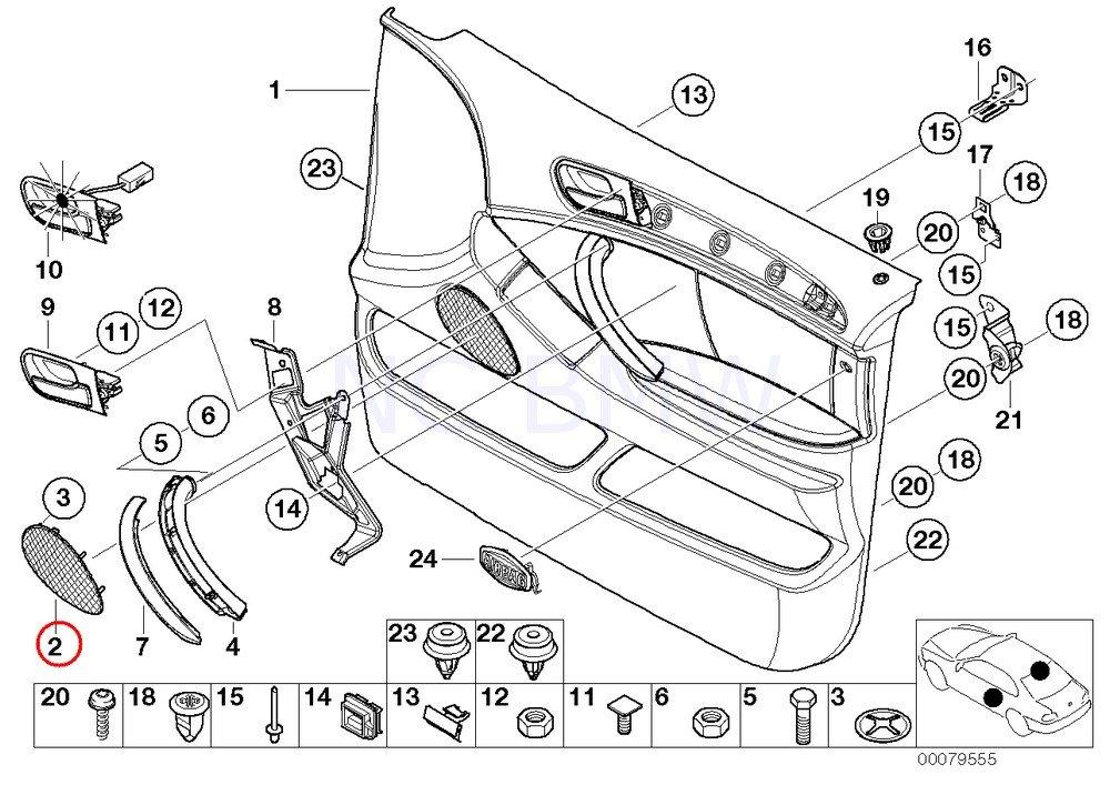 Amazon Com Bmw Genuine Cover F Right Loudspeaker Automotive