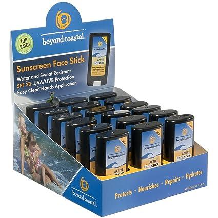 Beyond Coastal Active Face Stick Spf 30 Sunscreen - 0.5 Oz, 3 Pack Goddess Garden Sunny Face Natural Sunscreen SPF 30 3.4 oz.(pack of 4)
