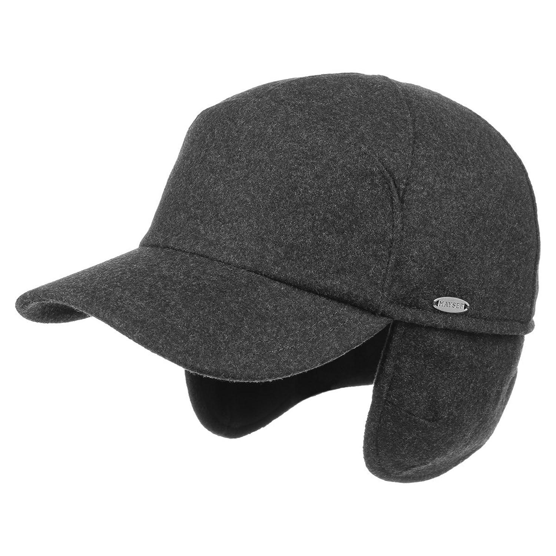Mayser Premium Ohrenwärmer Baseballcap Mayser Earflap Cap Winterkappen Ohrenschutz Kappen mit Schirm