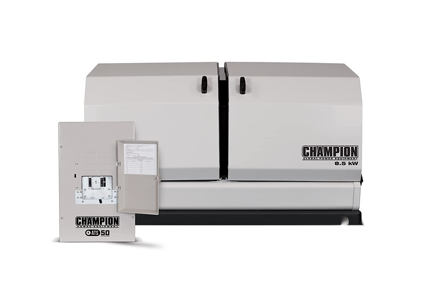 Champion 85 Kw Home Standby Generator With 50 Amp Atv Switch Wiring Diagram Indoor Rated Automatic Transfer Garden Outdoor