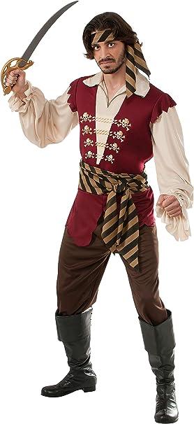 Amazon.com: Rubie s Disfraz Pirata Raider Adult Costume ...