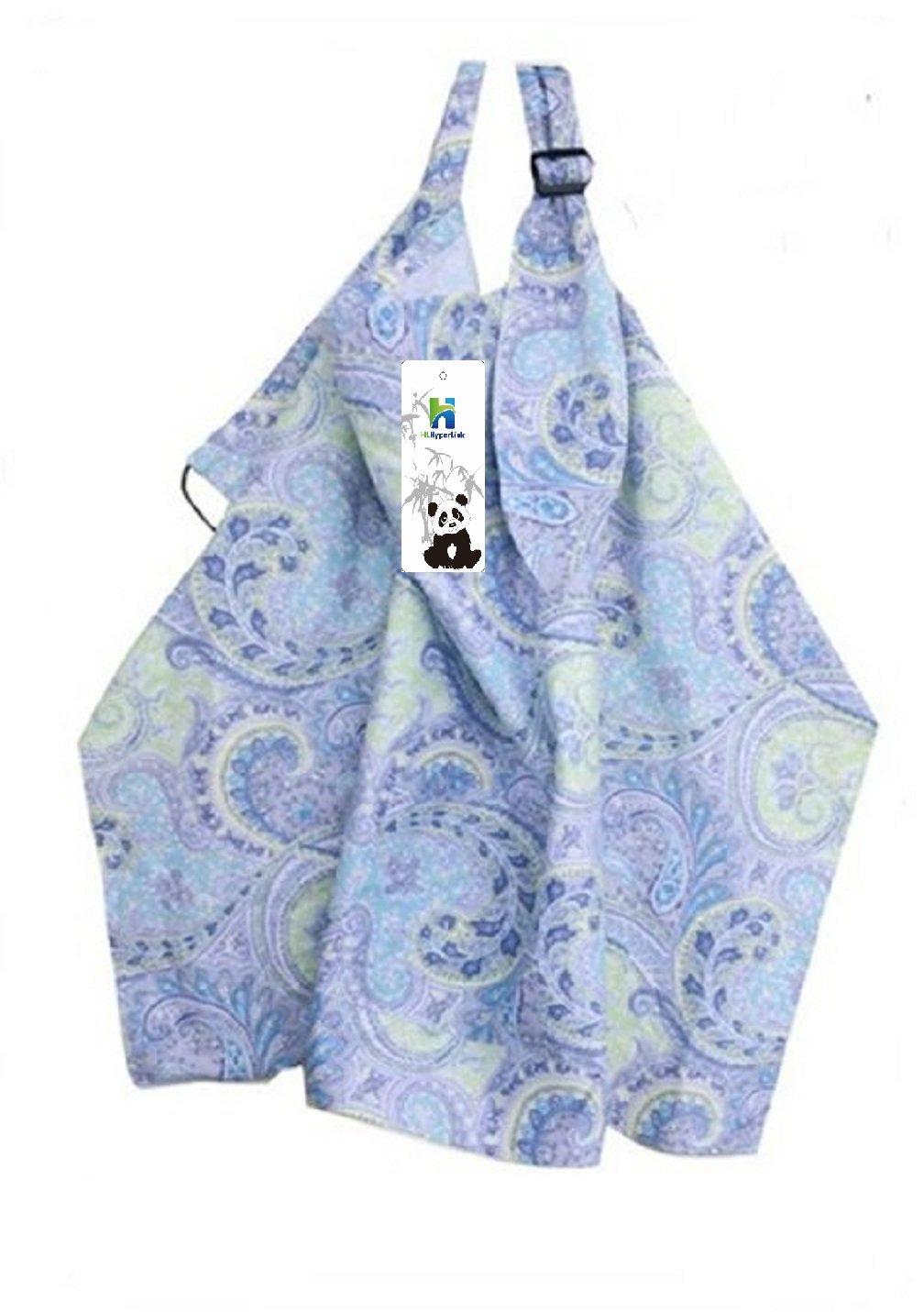 HLHyperLink Breast Feeding Baby Nursing Cover (Blue Flower Tail) by HLHyperLink   B019VCI5Y0