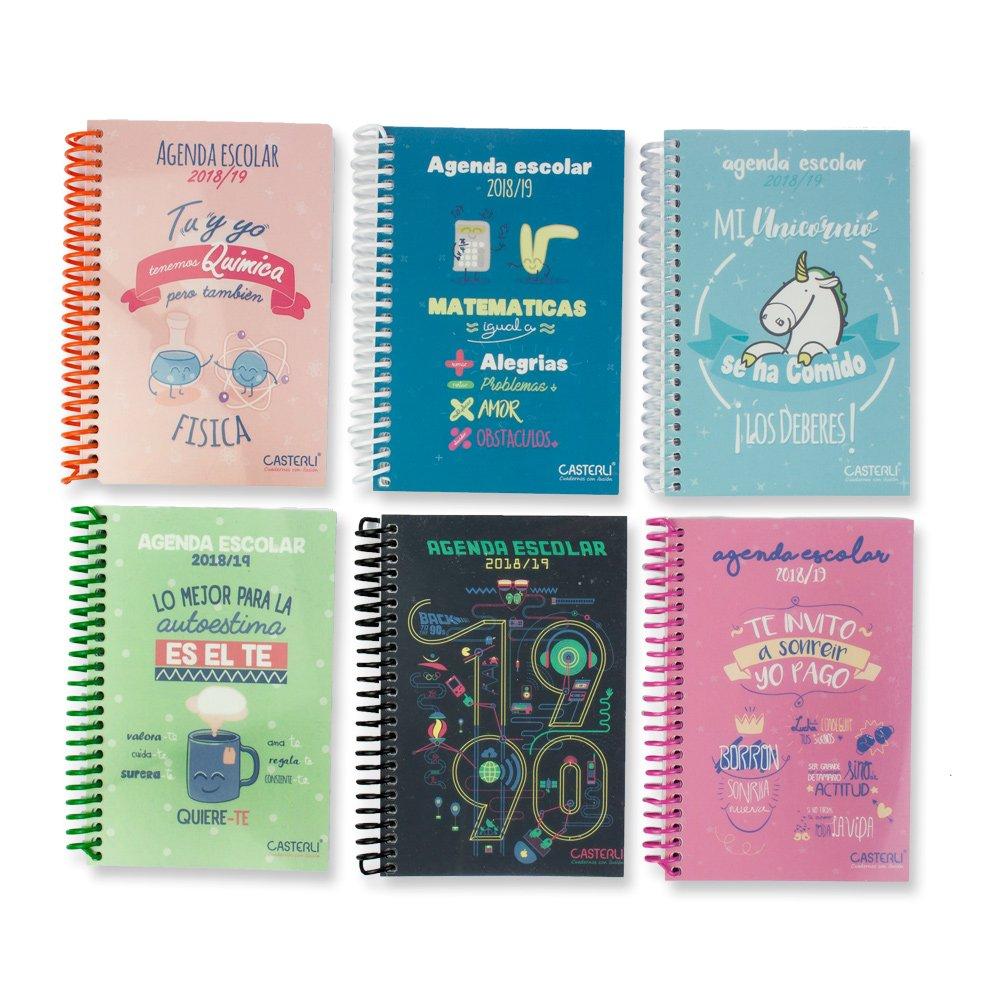Casterli- Colección Inspire - Agenda Escolar 2018/19, día página, tamaño A6 - UNICORNIO: Amazon.es: Oficina y papelería