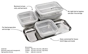 Professional Secrets - Stainless Steel Mise en Place Bowls w/Silicone Lids - Organization/Storage