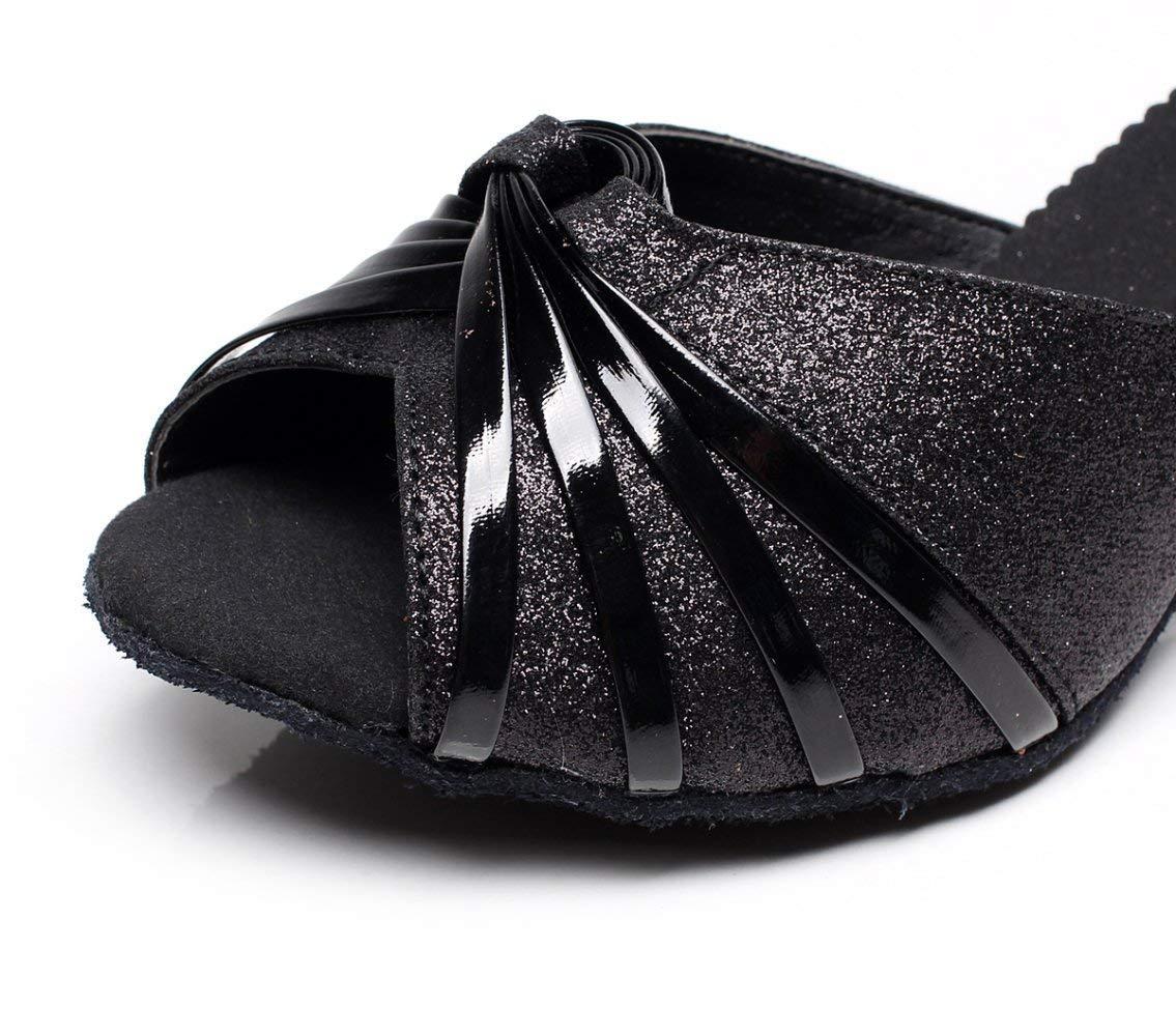 Willsego Damen Pailletten Latin Dance Schuhe Salsa Tango Tee Schuhe Samba Modern Jazz Schuhe Tee Sandalen High Heels SilberHeeled5cm-UK4   EU35   Our36 (Farbe   schwarzheeled7.5cm Größe   UK3 EU33 Our34) d85c18
