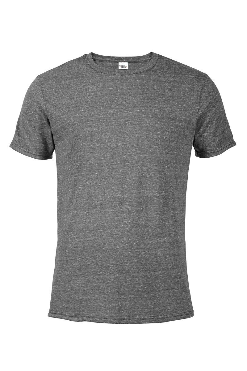 Casual Garb Men's Snow Heather Fitted T Shirt Short Sleeve Crew Neck T-Shirts for Men Graphite Large