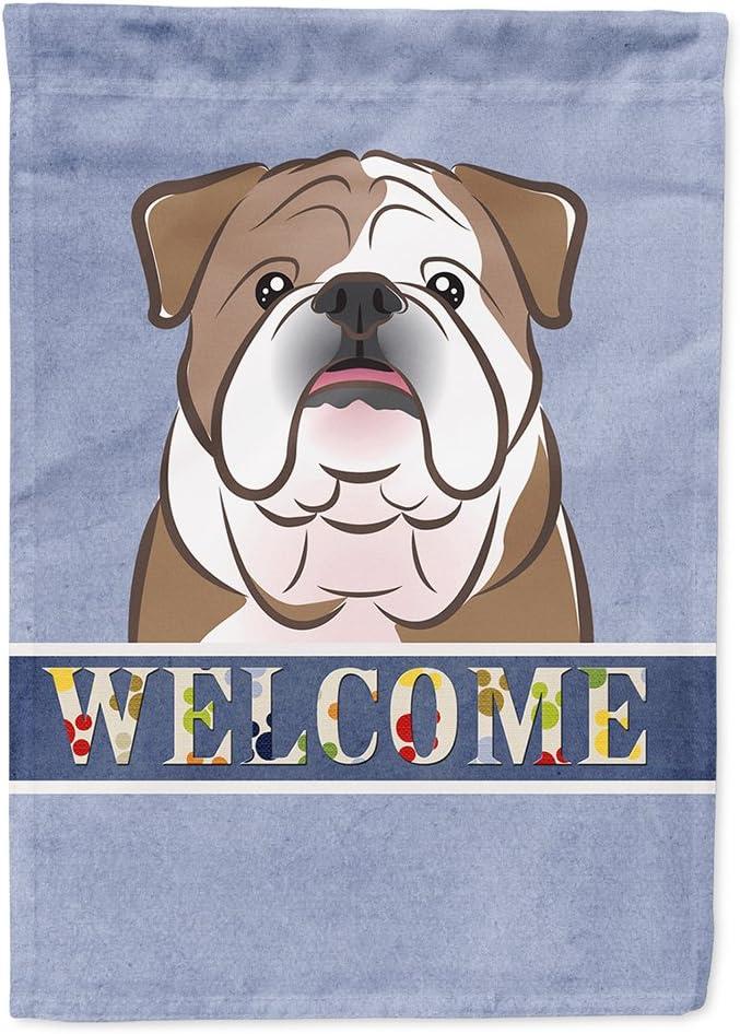 Caroline's Treasures BB1405GF English Bulldog Welcome Flag Garden Size, Small, Multicolor