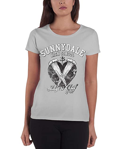 583718f431d41 Buffy The Vampire Slayer T Shirt Sunnydale Slayers Club '97 Womens ...