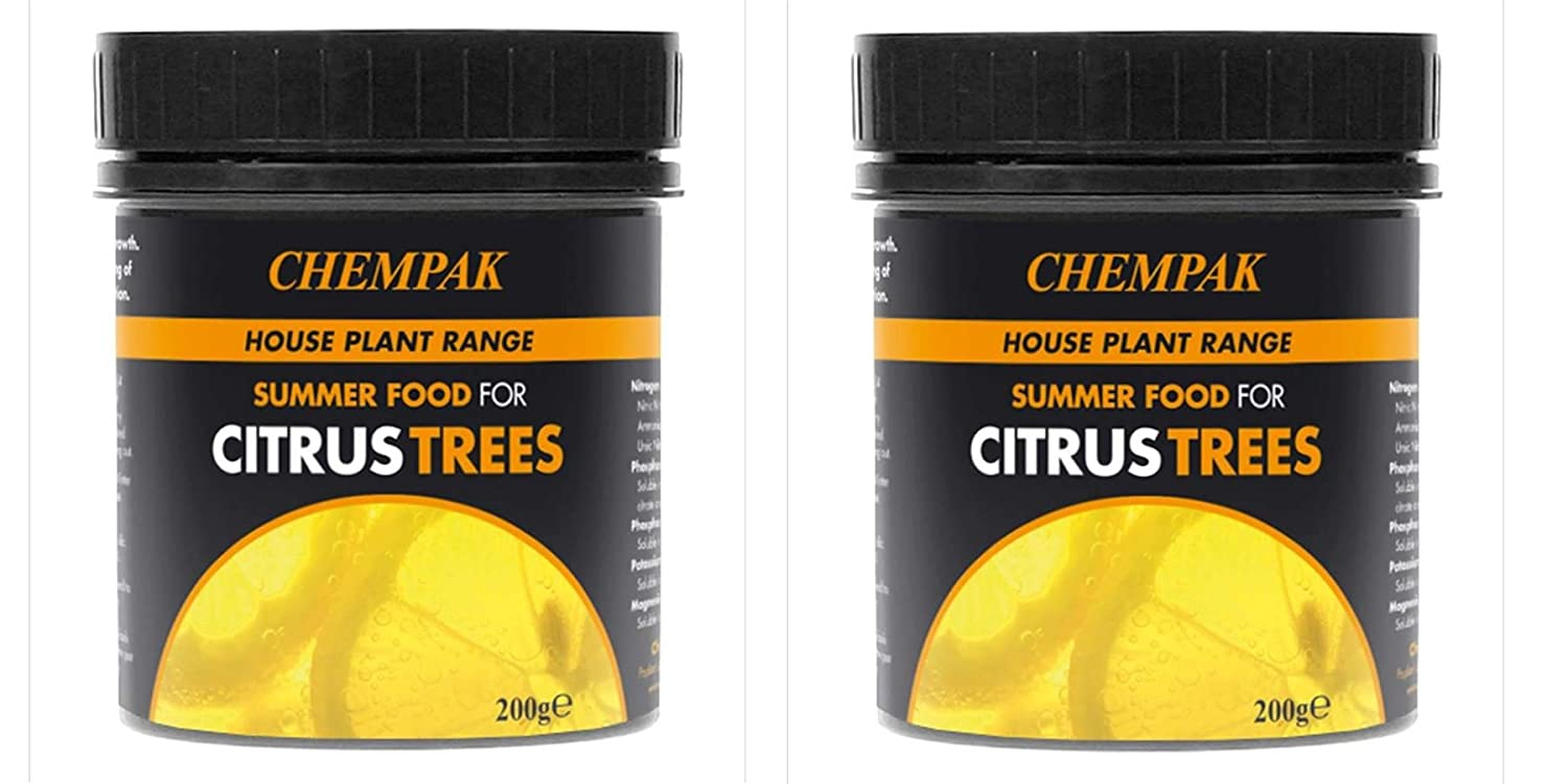 Chempak Citrus Trees Summer Fertiliser Feed Food 200 Gram Tub Twin Pack
