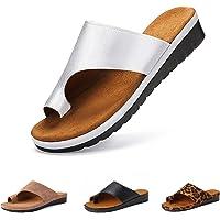 Camfosy Teenslippers voor dames, zomer, platte sandalen, comfortabele huisschoenen, hallux valgus-schoenen, outdoor…