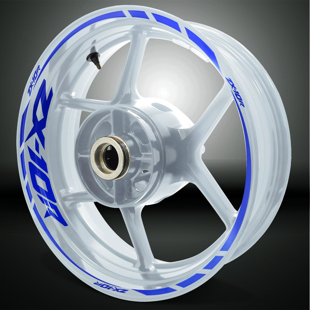 Reflective Blue Motorcycle Rim Wheel Decal Accessory Sticker For Kawasaki ZX10R