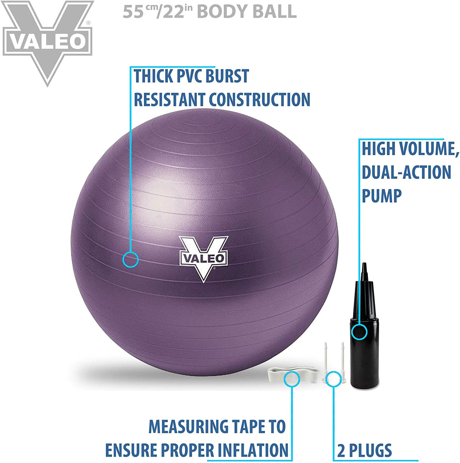 Brand New. Inflation Pump for Yoga Exercise Gym Ball Dual Action
