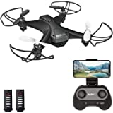 tech rc Mini Drone with Camera FPV Live Video Wifi Quadcopter, Easy Control with Headless Mode, Altitude Hold, Long…