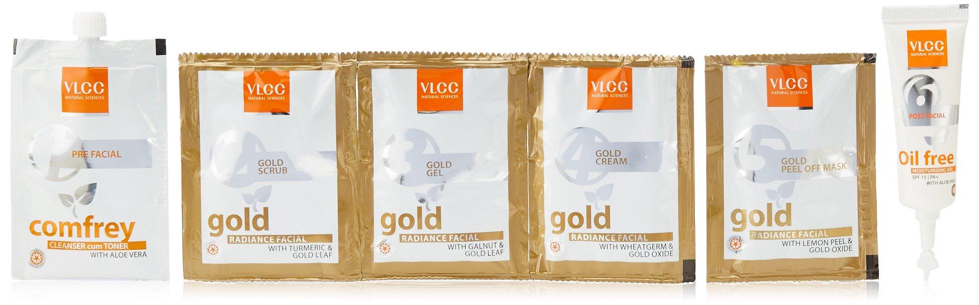 VLCC Gold Facial Kit, 60g + Free (white & bright glow gel creme 20g) product image
