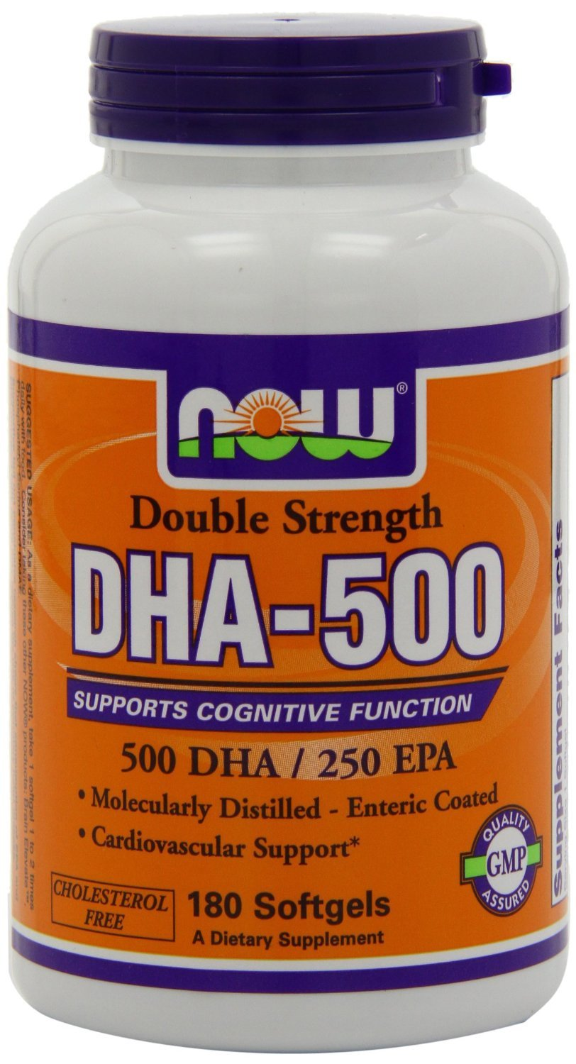 NOW Foods DHA-500, All New Mega Size Package 540 Softgels Package Now-vl