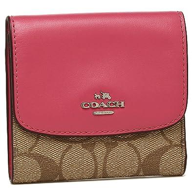 b45ab738e949 [コーチ] 三つ折り財布 アウトレット レディース COACH F87589 SKHMJ カーキ ピンク [並行輸入