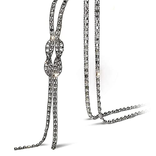 329115f02861b Suyi Trendy Crystal Long Necklace All-Match Style Shining Clothing Sweater  Chain