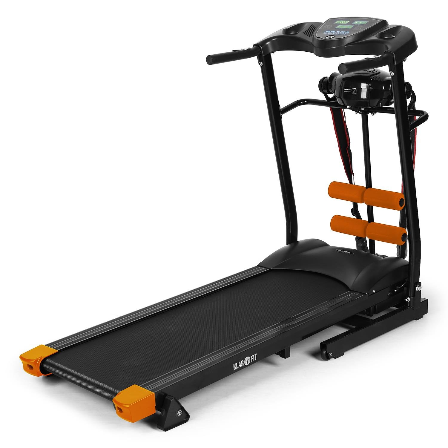 Klarfit Treado Advanced Laufband • Heimtrainer • Hometrainer • Aufstellwinkel 10 ° • Bandmassagegerät • Fußanker • Trainingscomputer • LCD-Display • integri