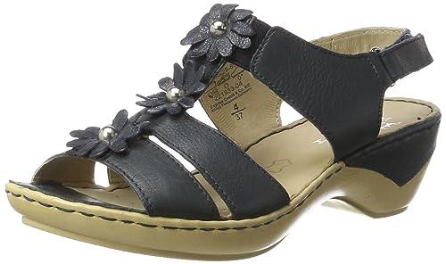Caprice Damen 28706 Offene Sandalen mit Keilabsatz