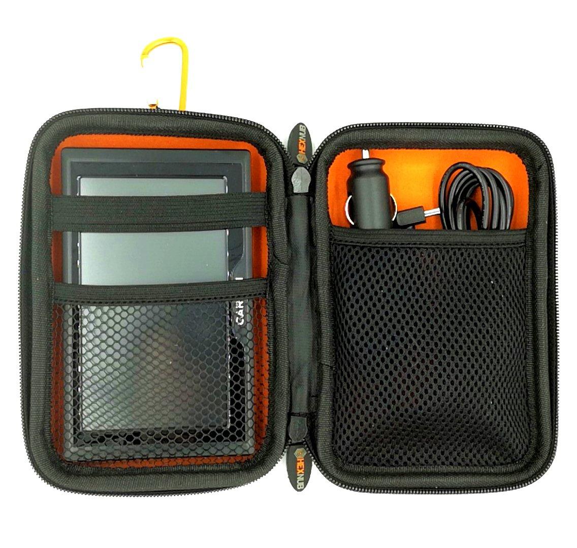 Garmin Sat Nav Carry Case se Adapta a Todas Las Unidades Garmin Drive de 5 Pulgadas 51LMT-S D 40LM DriveSmart 50LM Jugo 345LM 395LM Dezl 580 LMT-D Nuvi 57LM Naranja//Negro