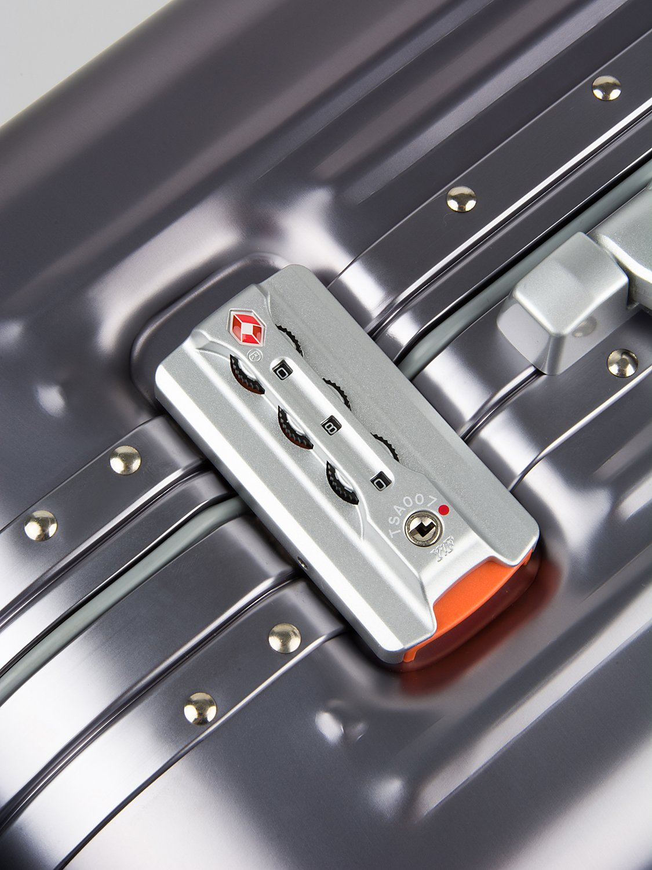 All Aluminum Luggage, HardShell Carry On Spinner Suitcase Grade 5 Aluminum-Magnesium Alloy TSA Approved 20'', Gunmetal by Clothink (Image #5)