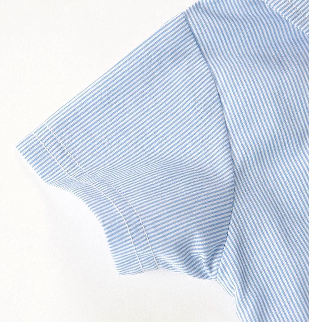 KaiCran Little Baby Boy Gentleman Bowtie Romper Summer Short Sleeve Star Print Overall Clothes