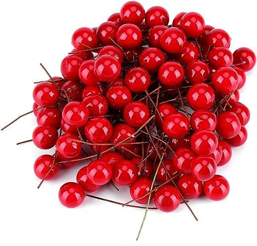 100pcs Artificial Berry Berries Simulation Garland Wedding Party Xmas Tree Decor