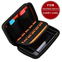 Hard Travel Carry Case Protective Storage Bag With 10 Game Holders for Nintendo Switch