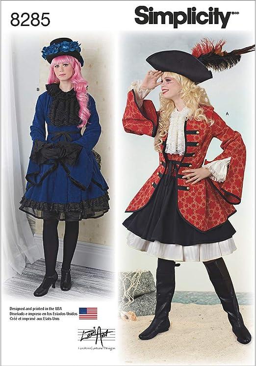 Simplicity 8285 R5 – Patrones de Costura para Disfraces de Mujer ...