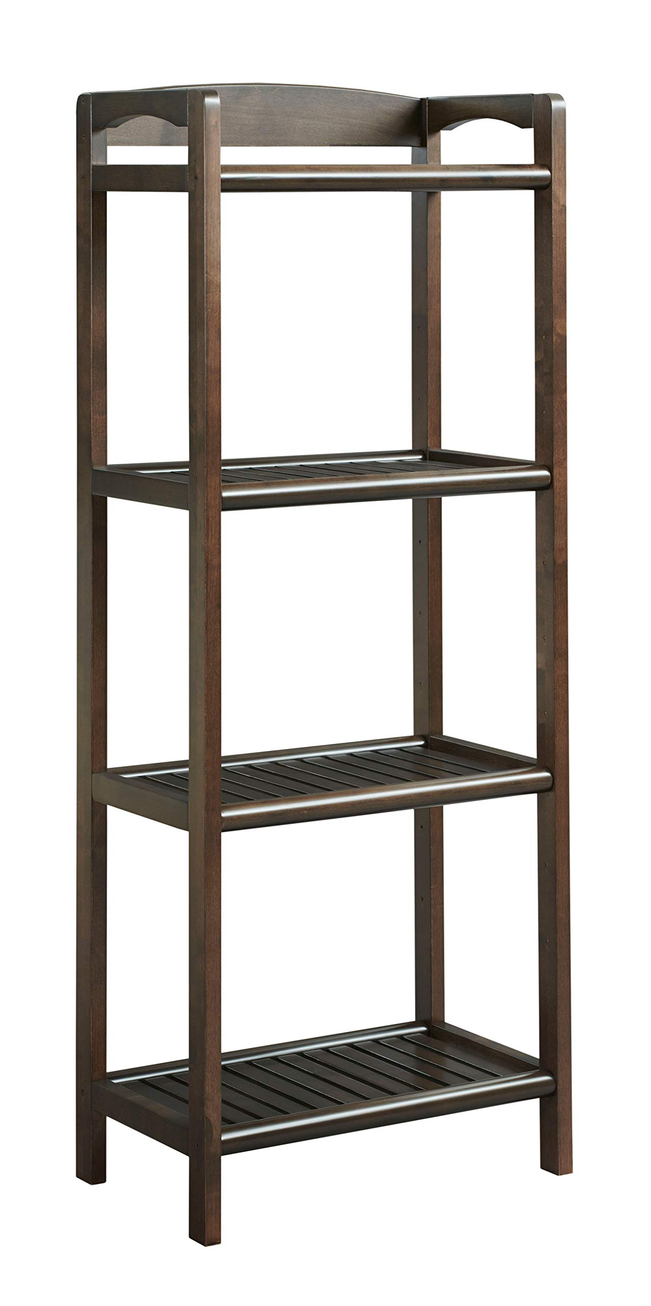 New Ridge Home Goods 2282-ESP Abingdon Tall Bookcase/Media Tower with Adjustable Shelves, One Size, Espresso by New Ridge Home Goods