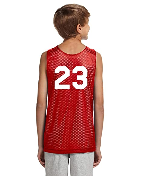 08da9ce4b Amazon.com  Players Inc Basketball Custom Numbered Red-White ...